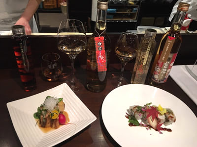 12月末まで、今年の「梅酒ヌーボー」と一緒にタンクから取り出したウメの実(梅酒ウメ)を使ったお料理もいただけるんです!